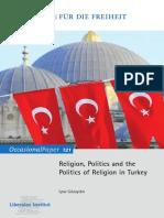 Religion, Politics and the Politics of Religion in Turkey