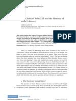 2009 - Chris Keith - The Claim of John 7.15 and the Memory of Jesus' Literacy