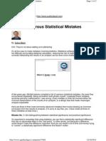 Three Dangerous Statistical Mistakes - Martz