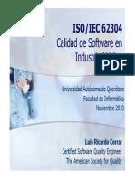 ISO-IEC 62403 Calidad de Software en Industria Médica
