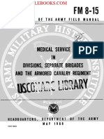 1968 US Army Vietnam War Medical Service in Divisions, Separate Brigades 73p