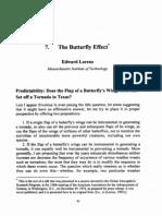 1. Lorenz - The Butterfly Effect