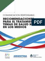 2013 10 Recomendaciones Tratamiento Temas Salud Mental Medios