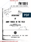 1968 US Army Vietnam War Operations of Army Forces in the Field 142p