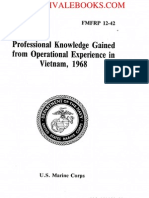 1968 US Marine Corps Professional Knowledge Gained From Operational Experience in Vietnam 270p