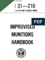 1969 US Army Vietnam War Improvised Munitions Handbook 255p