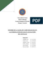 Informe de La Salida de Campo (Sanvelengomon)