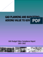 Gad Planning Budgeting