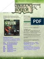 Arkham Horror FAQ