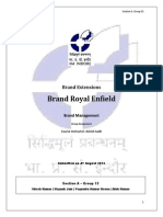 BM Assignment Brand Extensions Royal Enfield SectionC Group15