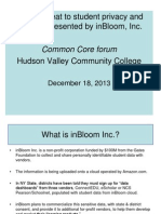 InBloom Presentation-12 18 13-Hudson Valley Community College