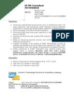 SAP PM SAMPLE Resume