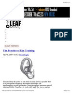 The Practice of Ear Training