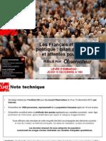 Le nouvel Observateur - Le bilan politique des Français - Décembre 2013