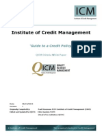 Resources Industrydata White QICM WP3 GuidetoaCredPolicy