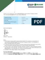 AEGON RELIGARE Premium Payment Receipt 2013