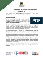 Informe Gestion Defensor Ciudadano Secgen 1sem2012