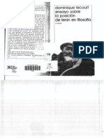 """Ensayo sobre la posición de Lenin en filosofía"", de Dominique Lecourt"