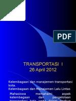 Kelembagaan Transportasi
