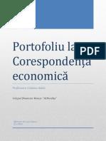 Portofoliu la Corespondența economică