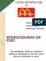 Employee Satisfaction in Mcdonalds