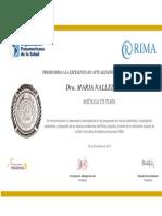 PREMIO RIMA A LA EXCELENCIA EN ACTUALIZACIÓN CIENTÍFICA INTERNACIONAL
