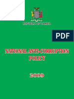 Zambia National Anti Corruption Policy