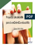 Presentación a las familias del Proyecto Lanzadera