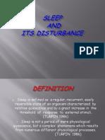 Sleep and Its Disturbance