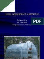 Greenhouse Construction - Construcción de Hibernadero