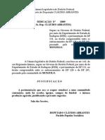 Indicação sugerindo pavimentação do trecho da DF 131 e DF 205