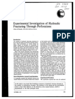 Experimental Investigation of Hydraulic Fracturing Through Perforations