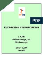 Cryogenics ISRO