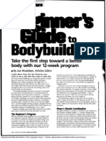 Beginers Guide to Bodybuilding (Muscle and Fitness)