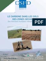 Bernoux M. & Chevallier T. 2013. Le carbone dans les sols des zones sèches. Des fonctions multiples indispensables