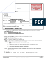 State Court Case Management Form Cm110