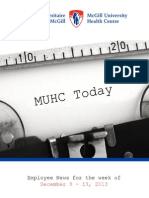 MUHC News Letter