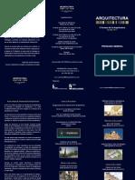 Programa X Semana Arquitectura 2011