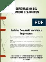 configuración del servidor de archivos