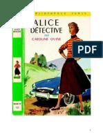 Caroline Quine Alice Roy 01 BV Alice Détective 1930