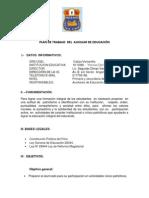 PLAN DE TRABAJO  DE AUXILIAR DE EDUCACIÓN