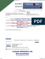 Listado De Documentales Alfabético (Actualizado Enero 2013)