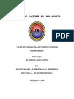La Importancia de La Reforma Electoral Universitaria