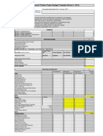 Theatre Project Budget Template Round 1 2014