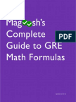 Magoosh's Complete Guide to GRE Math Formulas