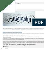 Caligrafia – SOBRE arte da caligrafia