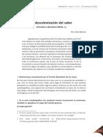 la descolonizacion del saber.pdf