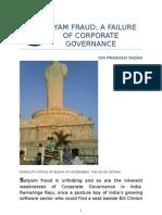 SATYAM FRAUD; FAILURE OF CORPORATE GOVERNANCE