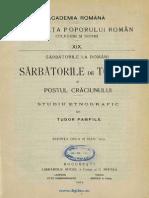 Sarb de Toamna Si Postul Craciun. t. Pamfile