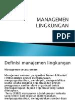 Manajemen Lingkungan